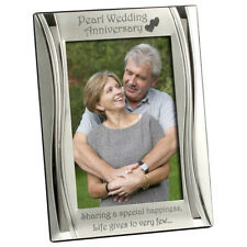 Pearl 30th Wedding Anniversary Silver Plated Photo Frame 4 x 6 Inch