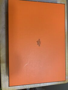 Hermes Empty Box  With Dust Cloth And Ribbon