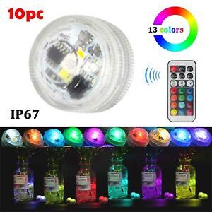 10pcs-30pcs RGB Submersible Waterproof Party Vase Decor Base Light + 1x Remote