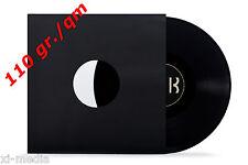 100 Schallplatten LP Innenhüllen, schwarz,Inner Sleeves, gefüttert 110gr.