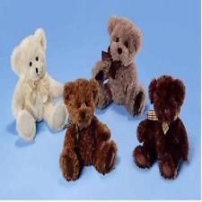 "RUSS BERRIE TAUBIN 7"" MILK CHOCO TEDDY BEAR TOY GIFT NEW"