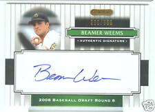 Beamer Weems San Diego 2008 Razor Signature Card Auto