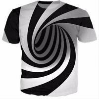New Fashion Womens/Mens Hypnosis Funny 3D Print Casual T-Shirt  KO 13