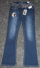 NWT Junior Girls Wall Flower Boot Cut Jeans With A Belt Size 3