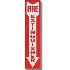 "1 - FIRE EXTINGUISHER Arrow 4""x18"" Sign, Self Adhesive Vinyl"