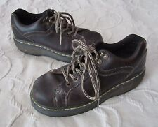 Dr. Doc Martens Shoes Boots Air Wair Leather Combat Mens US 8 9861 Brown Yellow
