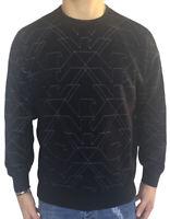EMPORIO ARMANI maglione/felpa blu con loghi a contrasto, art: 6Z1MY7, sconto 50%