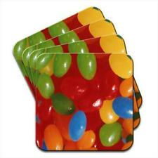 Tasty Jelly Beans Sweets Candy Set of 4 Coasters