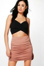 BOOHOO Brand Rose Rouched Side Jersey Mini Skirt Size 10 BNWT #SO05