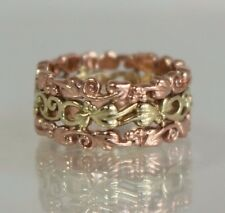 Stunning WIDE Clogau Welsh 9ct Yellow & Rose Gold Tree Of Life Ring Band N