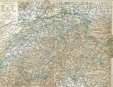 Karte der SCHWEIZ 1895 Original-Graphik