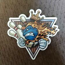 Flaming Bowling King Sticker Decal