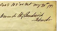 1873 Honolulu - SANDWICH ISLANDS - South Pacific Voyage - MANUSCRIPT LETTER