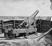 Confederate Heavy Mounted Gun Cannon Petersburg VA 1865 8x10 US Civil War Photo
