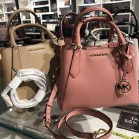 Michael Kors Small Leather Crossbody Satchel Messenger Bag Handbag Purse Black