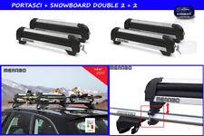 Portasci per auto con barre portatutto porta sci snowboard kit tetto auto set