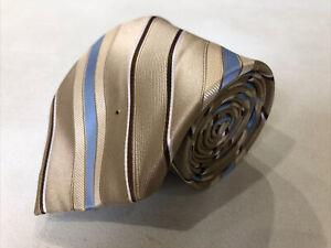 Michael Kors Men's Gold Novelty Stripe Belts Silk Tie $98