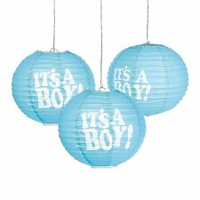 """It's a Boy!"" 10"" Lanterns (3 Pieces) Paper"