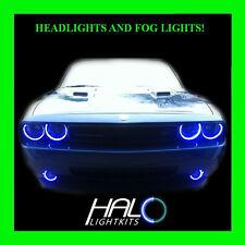 2008-2014 DODGE CHALLENGER BLUE LED HALO HEADLIGHT+FOG LIGHT KIT by ORACLE