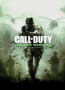 Call of Duty Modern Warfare Remastered Poster Print A3 A4 5x7 Satin Matt Gloss