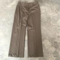 Lafayette 148 New York Menswear Beige Virgin Wool Trouser Dress Pants Size 10