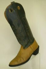 Nocona Green Brown Leather Buckaroo Tall Cowboy Western Boots Mens Size 10.5 D