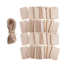 100pcs Natural Wood Gift Tags Hanging Label for Wedding Favors DIY Crafts