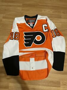 Philadelphia Flyers Mike Richards Authentic NHL HOCKEY JERSEY Reebok Size 50
