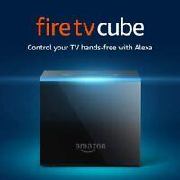 Fire TV Cube 1st Gen, Hands-Free with Alexa & 4K Ultra HD + 2nd Gen Alexa Remote