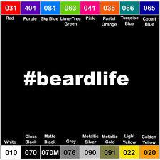 BEARD LIFE Sticker Vinyl Decal Funny Humor Hashtag