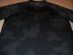 UNDER ARMOUR SHORT SLEEVE GRAY/BLACK ACTIVEWEAR SHIRT MENS 3XL EXCELLENT COND.