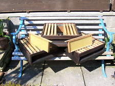 3 BRITISH NATIONAL SUPERS WITH FRAMES WAX CASTELLATED SPACERS - BEEKEEPING HIVE