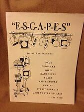 ESCAPES Secret Workings For: Handcuffs, Padlocks, Ropes... ABBOTT Publications