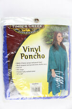 "Rainsuit Timber Creek Poncho Outdoor Experience Hood Blue 51"" x 84"" Heavy GA"