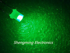 100pcs 3mm Flat top Green Wide Angle emitting Led diode Diffused Fog