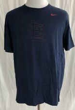 St. Louis Cardinals - NIKE - Navy Blue Cotton Shirt - Men's XL
