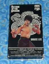 Bruce Lee Return Of The Dragon VHS Video Tape w Cover Very Good Tested Condition