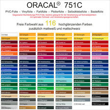 [17,46€/m²] Plotterfolie Vinylfolie Bastelfolie Oracal 751c DIN A4 (21x30cm) NEU