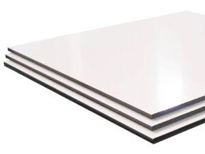 White Aluminium Composite Sheet ( Dibond Alt ) ACM Panel, Sign, Board, Blank.