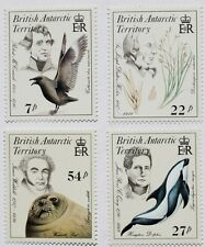 Early naturalists stamps, British Antarctic Territory, 1985, SG ref: 143-146 MNH