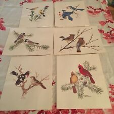 Sher Pearson Collector's Portfolio of Song Birds Vintage - Set of 6 Prints USA