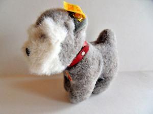 Steiff dog Schnauzer  terrier miniature with  all ID's Germany 196
