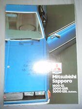 MITSUBISHI SAPPORO 1600 Gal 2000 polvere da sparo 2000 GSL BROCHURE c1980's TESTO TEDESCO