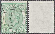 Victoria 1873-87 QV 1d. yellow-green Perf 12½ Glazed SG 188 UNPRICED SEE DESCR.