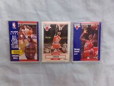 Lot of 3 Micheal Jordan NBA Trading Cards ~ Excellent Condition