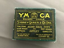 Antique 1900s Billiard Ymca chalk w/ original box unused pool