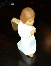 Lotte Sievers Hahn,Nativity crib hand carved,Single Standing Brown Hair Angel