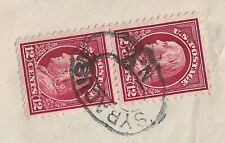 US #417 (2)  (1912) Registered - Postmarked Syracuse, NY - Envelope