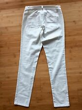 CACHE Slim Fit stretch white Silver Sparkle Glitter jeans pants Slacks 26x30 Sz2