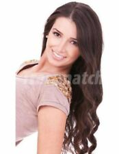 """20""""-22"""" Chocolate Reddish Brown Remy Hair Extensions Double Drawn Weft Clip In"""